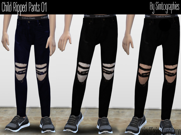 Ripped Pants 01 by simtographies at TSR image 3103 Sims 4 Updates