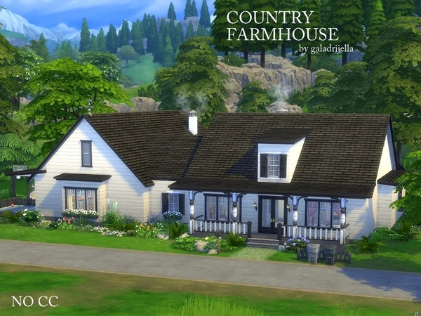 Country Farmhouse by galadrijella at TSR image 3110 Sims 4 Updates