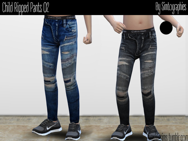 Sims 4 Ripped Pants 02 by simtographies at TSR