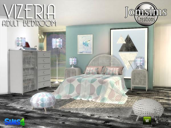 Sims 4 Vizeria bedroom by jomsims at TSR