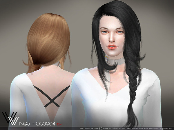 Hair OS0904 by WingsSims at TSR image 314 Sims 4 Updates