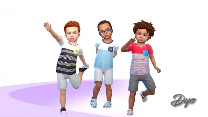 Sims 4 T shirts by Dyokabb at Les Sims4