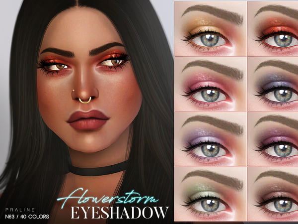 Flowerstorm Eyeshadow N63 by Pralinesims at TSR image 322 Sims 4 Updates