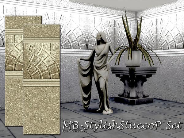 MB Stylish Stucco P Set by matomibotaki at TSR image 3223 Sims 4 Updates