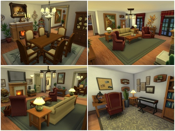 Country Farmhouse by galadrijella at TSR image 325 Sims 4 Updates
