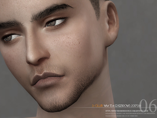 Sims 4 Eyebrows M 201706 by S Club WM at TSR