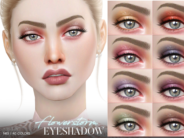Flowerstorm Eyeshadow N63 by Pralinesims at TSR image 332 Sims 4 Updates