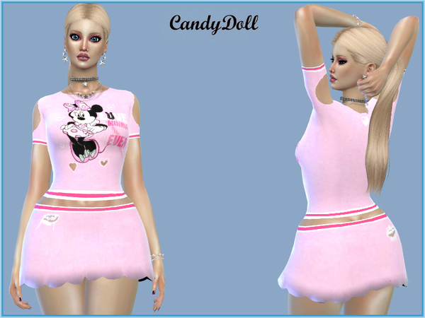 Sims 4 Too cute Minnie Set by CandyDoll at TSR