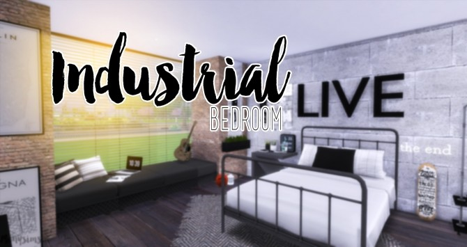 Industrial Bedroom at Mony Sims image 3341 670x355 Sims 4 Updates