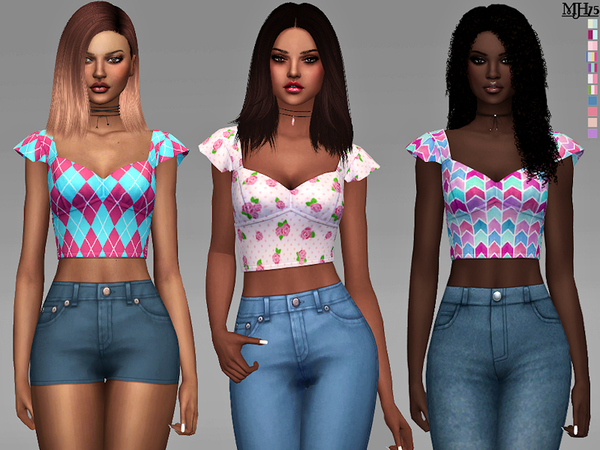 Sims 4 Simmeria Tops by Margeh 75 at TSR