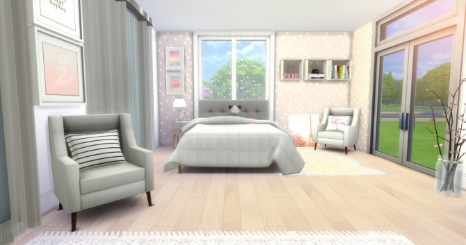 Simple bedroom at Mony Sims image 3411 670x353 Sims 4 Updates