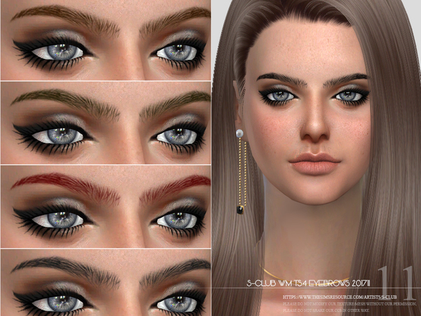 Eyebrows F 201711 by S Club WM at TSR image 3416 Sims 4 Updates