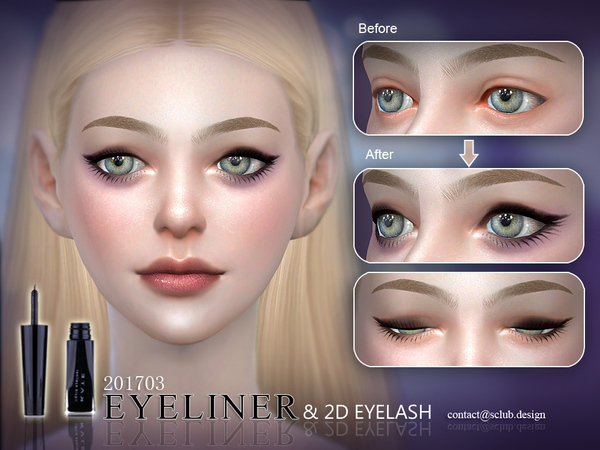 Eyeliner 201703 by S Club LL at TSR image 3417 Sims 4 Updates
