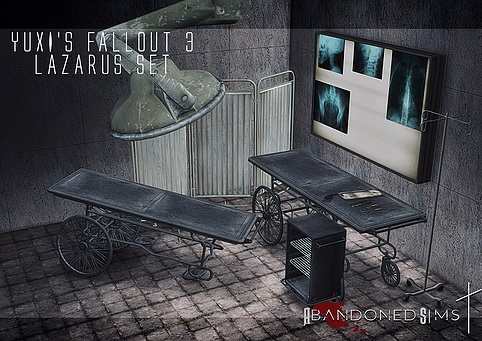 Yuxis Fallout 3 Lazarus Set Conversion at Abandoned Sim Worlds image 3441 Sims 4 Updates