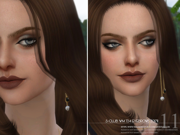 Eyebrows F 201711 by S Club WM at TSR image 3516 Sims 4 Updates