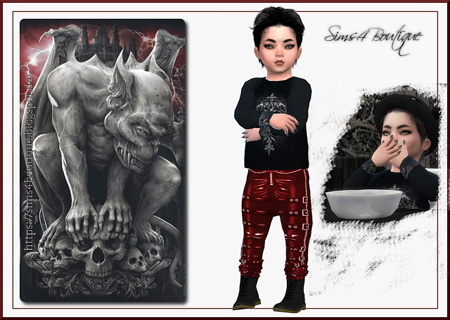 Set 2 for little Vampire boys at Sims4 Boutique image 3521 Sims 4 Updates