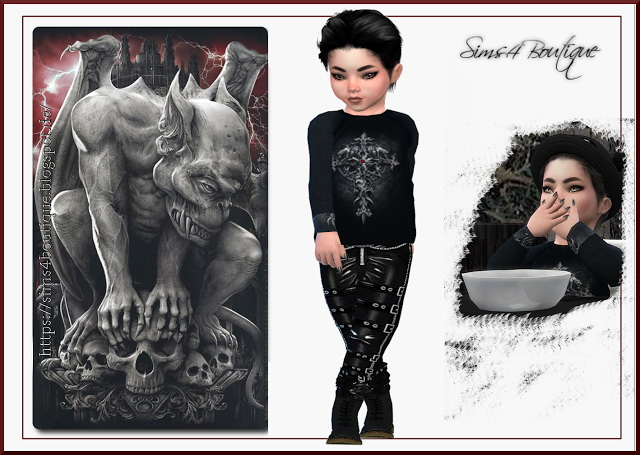 Set 2 for little Vampire boys at Sims4 Boutique image 3531 Sims 4 Updates