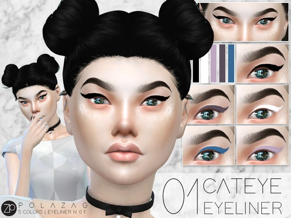 Eyeliner N01 Cat Eye by polazag at TSR image 3614 Sims 4 Updates