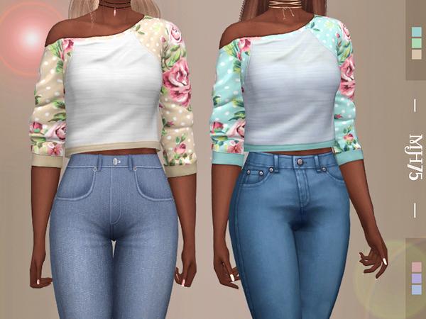 Sims 4 Wanda Tops by Margeh 75 at TSR