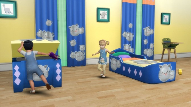 Slimeriffic Curtains and Toy chest by Snowhaze at Mod The Sims image 364 670x377 Sims 4 Updates