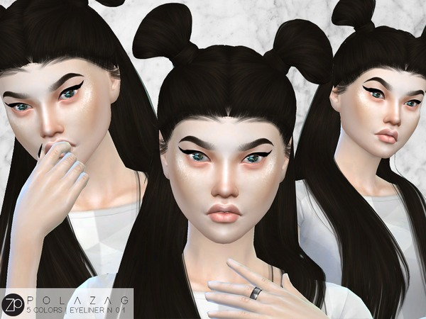 Eyeliner N01 Cat Eye by polazag at TSR image 3714 Sims 4 Updates