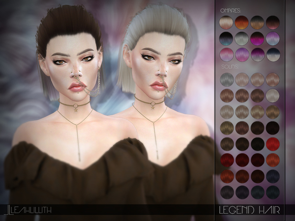 Sims 4 Legend Hair by LeahLillith at TSR