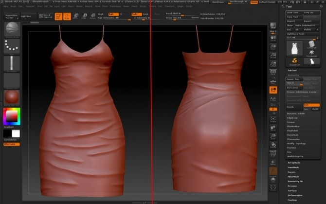 Making wrinkles on clothes using ZBrush at Deep Space image 380 670x419 Sims 4 Updates