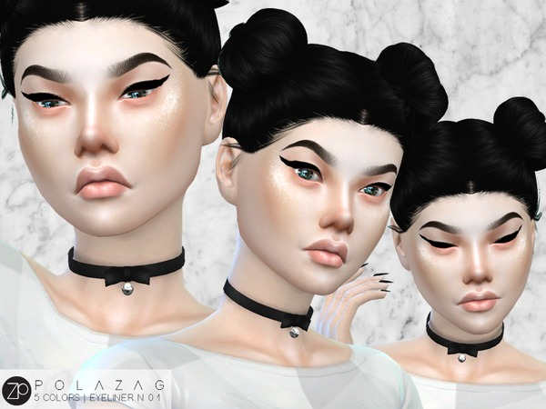 Eyeliner N01 Cat Eye by polazag at TSR image 3814 Sims 4 Updates