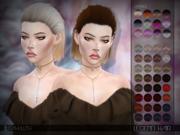 Legend Hair by LeahLillith at TSR image 382 Sims 4 Updates