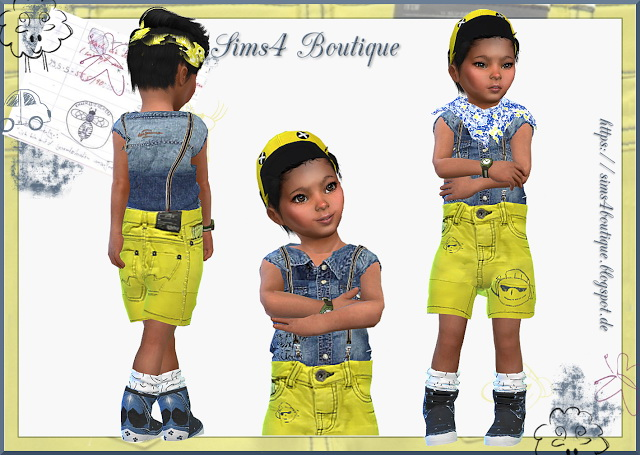 Jeans Outfit for little Boys at Sims4 Boutique image 389 Sims 4 Updates