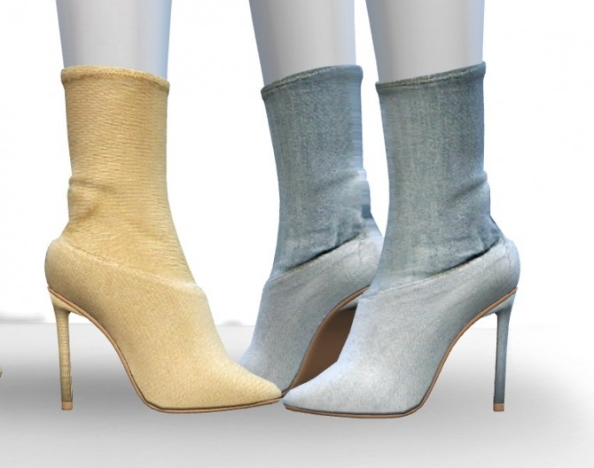 Sims 4 Pointed Toe Boots by MrAntonieddu at MA$ims4
