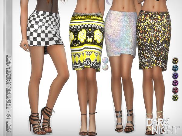 Sims 4 Printed Skirts Set by DarkNighTt at TSR