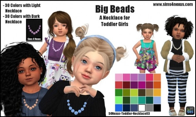 Sims 4 Big Beads necklace by SamanthaGump at Sims 4 Nexus