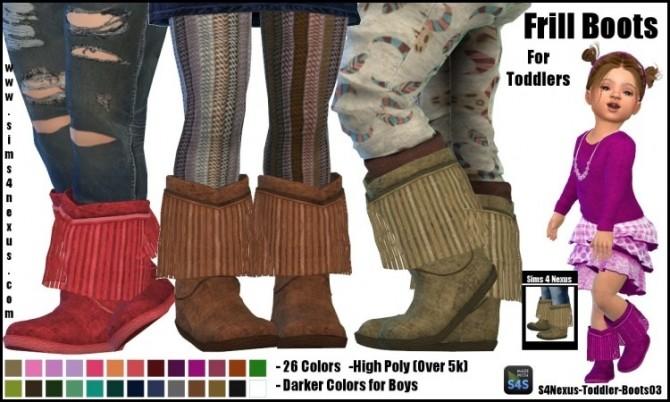 Sims 4 Frill Boots by SamanthaGump at Sims 4 Nexus