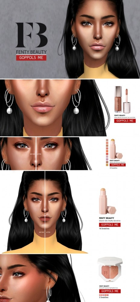 BEAUTY set at GOPPOLS Me image 400 464x1000 Sims 4 Updates