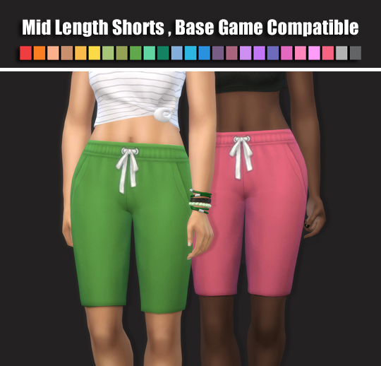 Mid Length Shorts by maimouth at SimsWorkshop image 4014 Sims 4 Updates