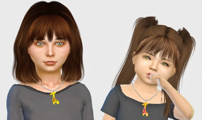 Giraffe Necklace Kids & Toddlers at Simiracle image 4101 670x398 Sims 4 Updates