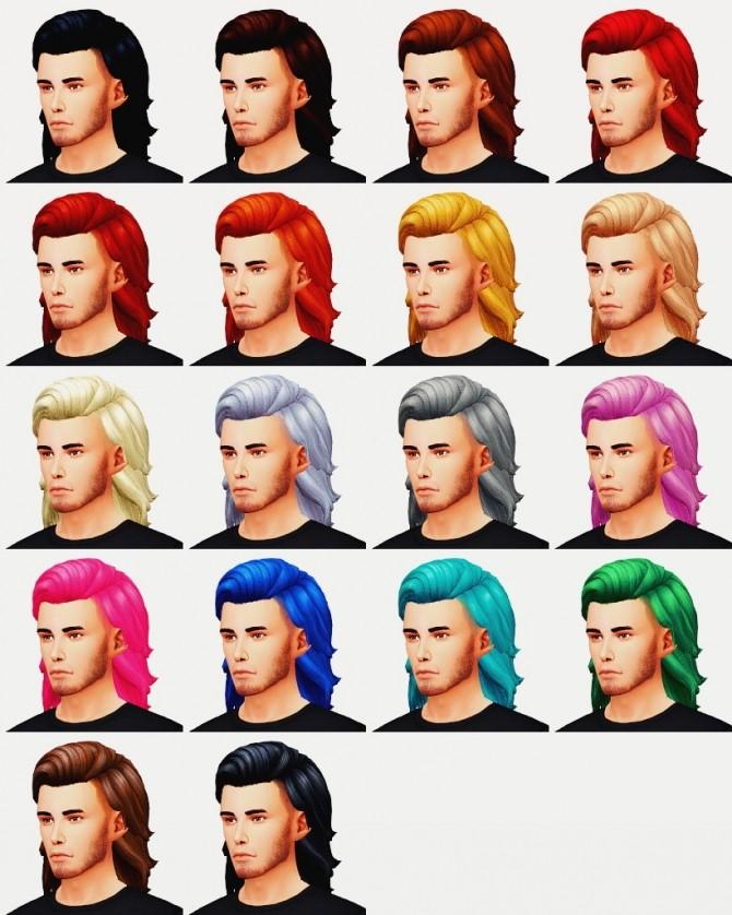 Sims 4 JULIEN HAIR at Wyatts Sims