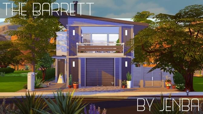 Sims 4 Barrett modern home at Jenba Sims