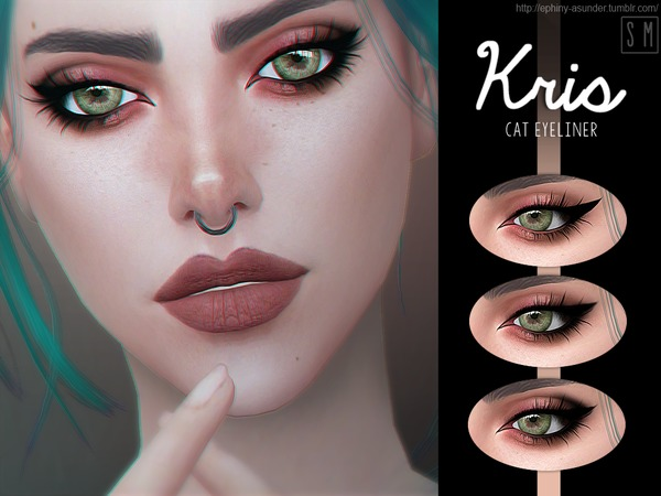 Kris Cat Eyeliner by Screaming Mustard at TSR image 422 Sims 4 Updates