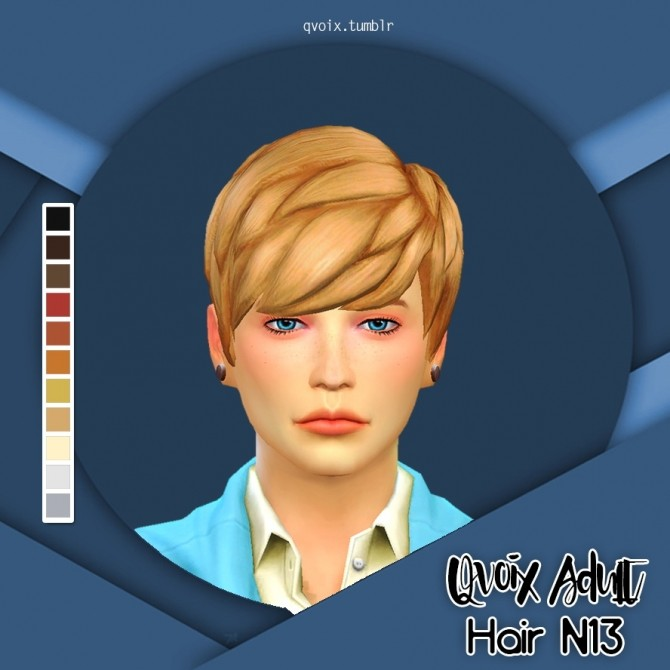 Sims 4 Hair N13 & N14 at qvoix – escaping reality