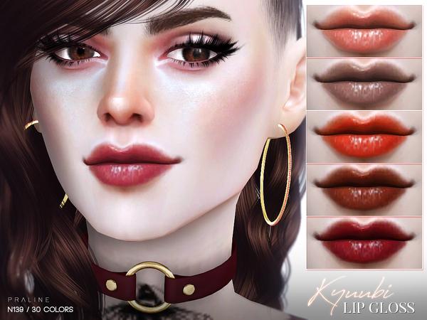Sims 4 Kyuubi Lip Gloss N139 by Pralinesims at TSR