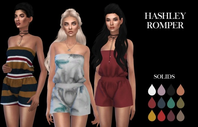 Sims 4 Hashley Romper at Leo Sims
