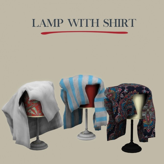 Lamp With Shirt at Leo Sims image 449 670x670 Sims 4 Updates