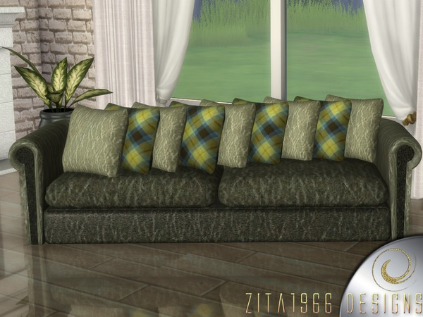 Modern Living Green by ZitaRossouw at TSR image 453 Sims 4 Updates