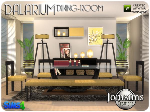 Dalarium Dining Room by jomsims at TSR image 455 Sims 4 Updates