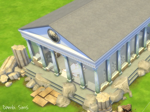 Sims 4 Greek Roman Temple Antique Spa by dambisims at TSR