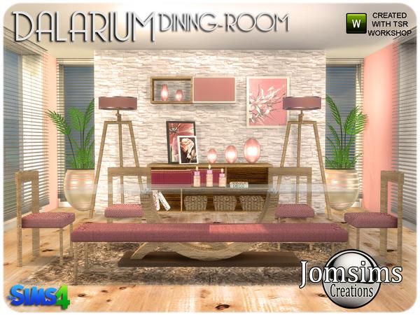 Dalarium Dining Room by jomsims at TSR image 465 Sims 4 Updates