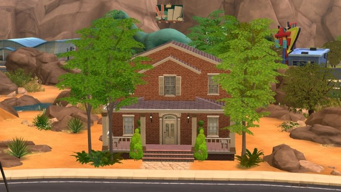 Sims 4 Brick house by iSandor at Mod The Sims