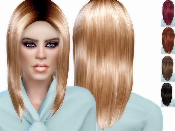 Sims 4 Veron Long Bob by ZitaRossouw at TSR